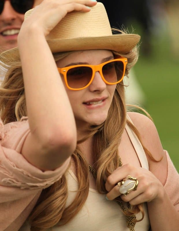 Chloë Grace Moretz attends the Veuve Clicquot Gold cup final at Cowdray Park polo club in West Sussex on July 17, 2011