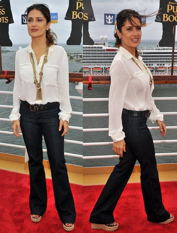 Salma Hayek teaches us how to look extraordinary in otherwise ordinary jeans