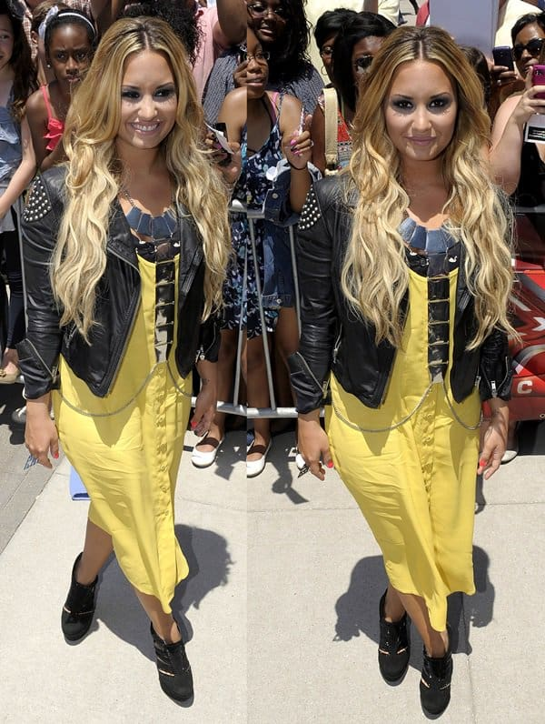 Demi Lovato arriving for the Kansas City auditions for season 2 of the U.S. version of X Factor held at the Sprint Center in Kansas City on June 8, 2012