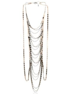 T. Cyia Huntington Two-Tone Rose Gold Gunmetal Body Chain Harness