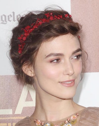 Keira wearing tiny red florettes