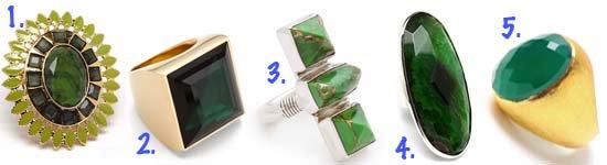 Emerald Green Rings