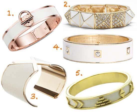 White & Gold Bracelets 2