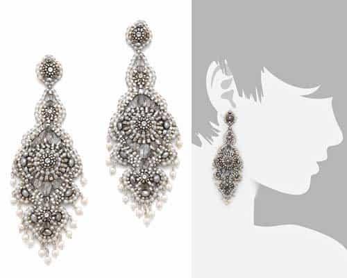 Miguel Asses Pyrite Chandelier Earrings
