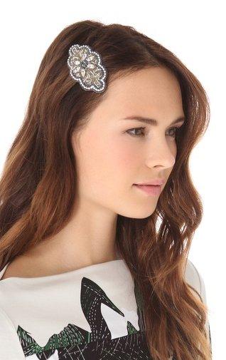 Deepa Gurnani Crystal Bouquet Hair Clip