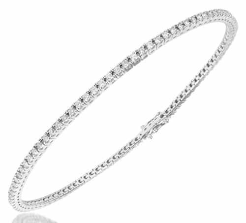 Forzieri 1.05 ctw White Diamond Eternity 18K Gold Tennis Bracelet