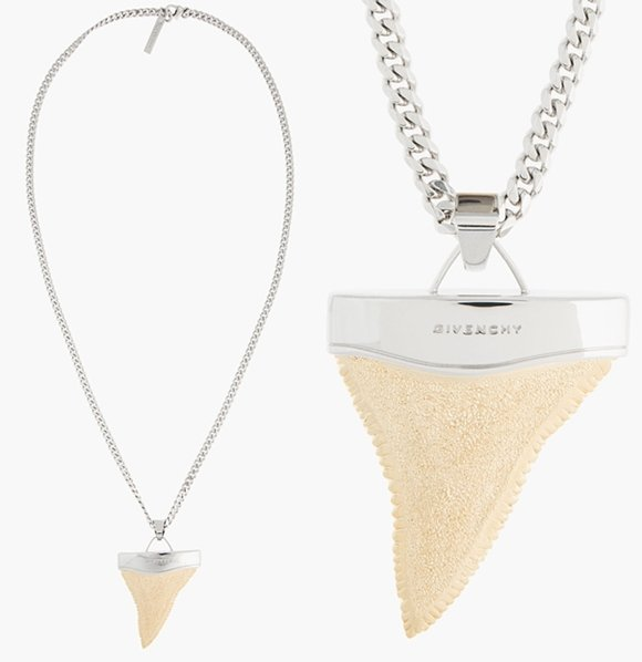 Gold shark tooth necklace victorias secret
