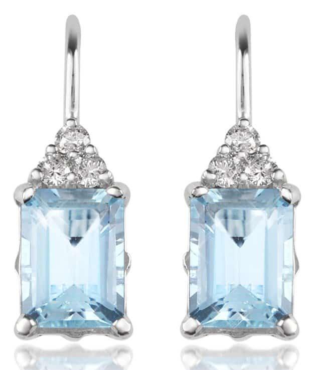 Incanto Royale Aquamarine and Diamond 18K Gold Drop Earrings