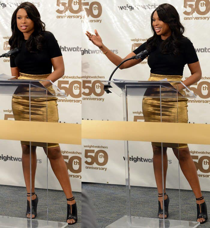 Jennifer Hudson at Weight Watchers' 50th Anniversary in New York on March 25, 2013