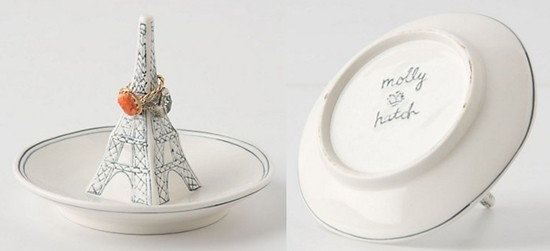 Molly Hatch Stoneware Eiffel Tower Ring Dish - Anthropologie