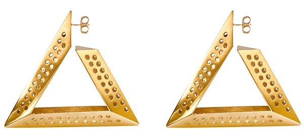 Scott Wilson for Aqua Logo Hoop Gold Earrings1
