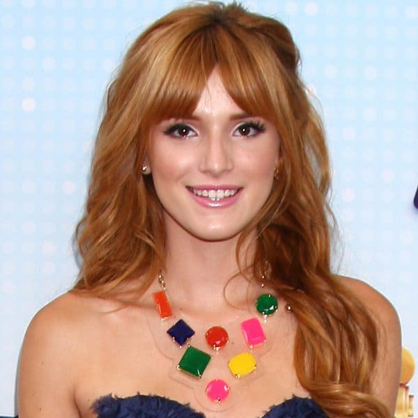 Bella Thorne wearing Kate Spade's 'Cameo Jewels' bib necklace