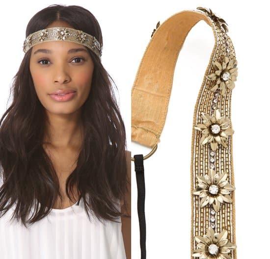 Dauphines of New York Sun Goddess Headband_gold