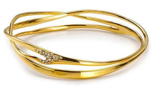Alexis Bittar Liquid Gold Collection Pavé Wave Bangle