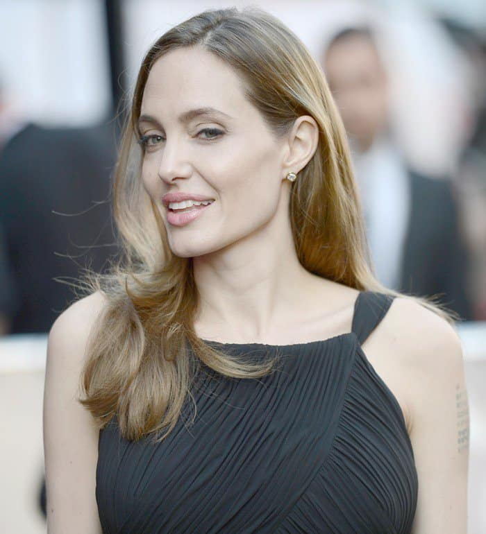 Angelina Jolie at the premiere of World War Z held at Empire Leicester Square in London on June 2, 2013