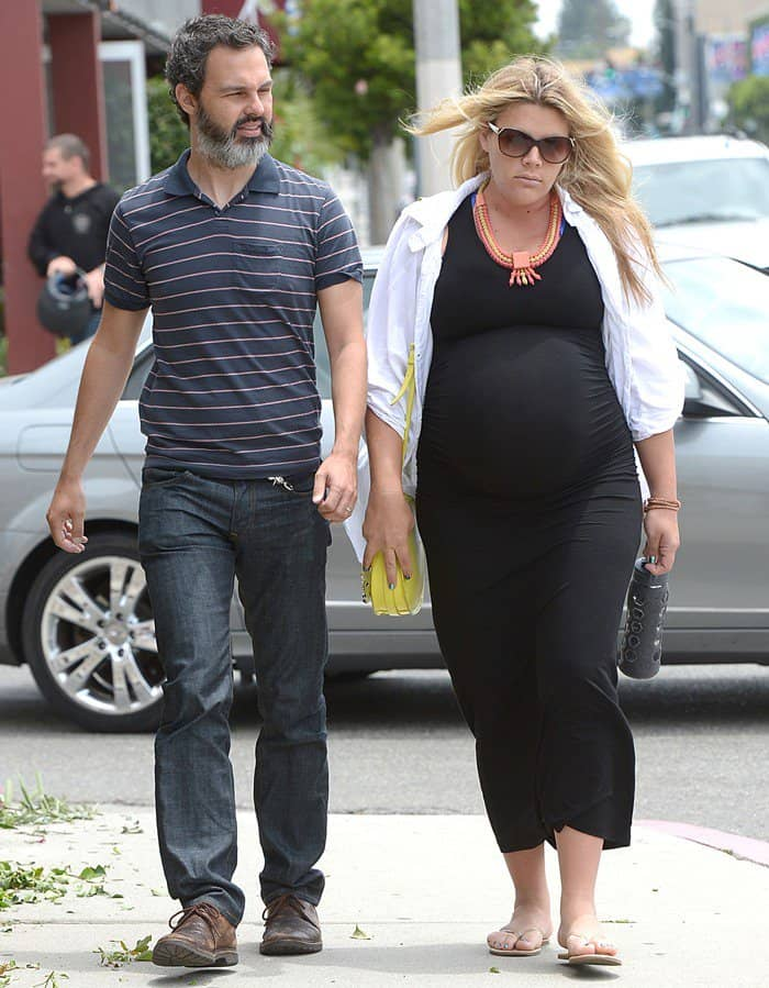 Busy Philipps with husband Marc Silverstein seen shopping on Melrose Avenue in Los Angeles on June 11, 2013