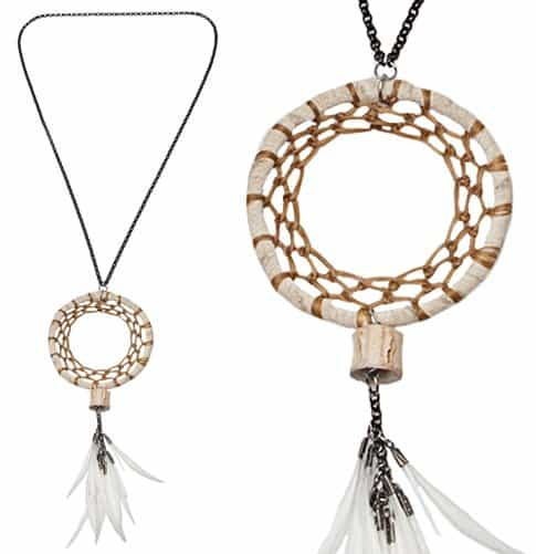 Fauxtale Dream Catcher Necklace
