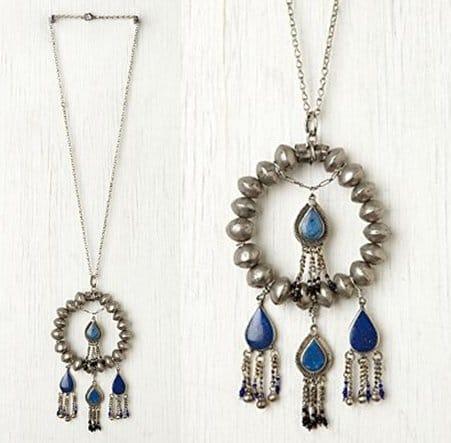 Free People Britt Bolton Lazuli Pendant Necklace