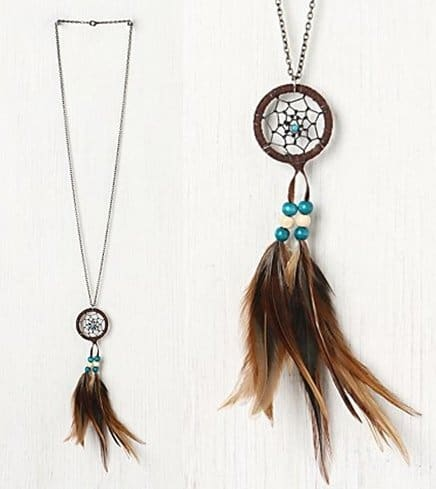 Free People Feather Dream Catcher Necklace