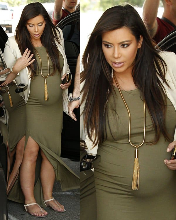 Kim Kardashian out and about in Sherman Oaks, Los Angeles on June 12, 2013