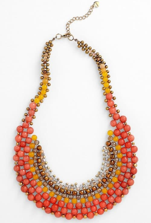 busy philipps adds color with orange beaded necklace