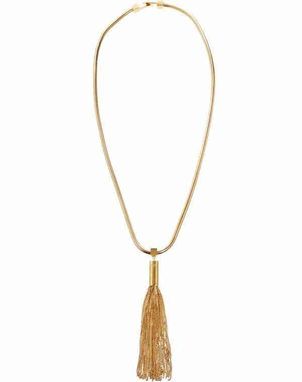 Saint Laurent Opium Tassel Necklace