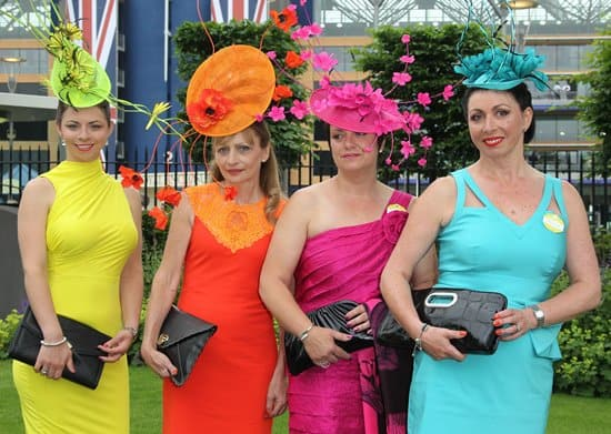 A band of ladies at day 1 of the Royal Ascot 2013 in Ascot, United Kingdom on June 18, 2013
