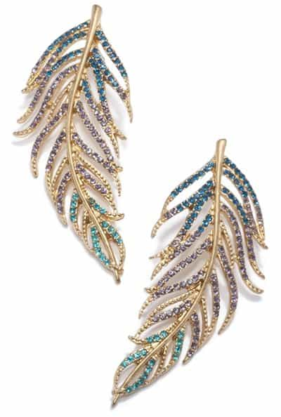 Rachel Roy Pave Feather Earring