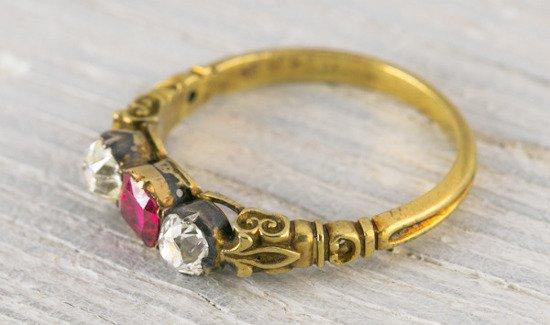 Vintage Diamond and Sapphire