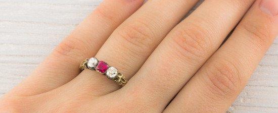 Vintage Diamond and Sapphire 2