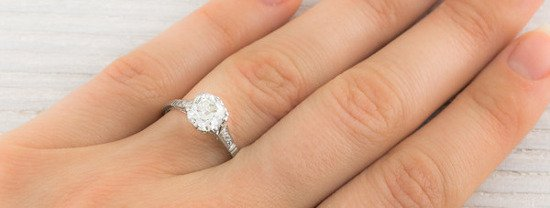 Cushion Cut Vintage Diamond Engagement