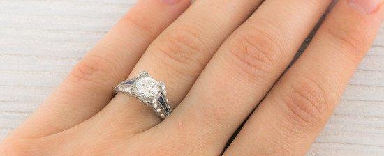 vintage diamond and sapphire 2 - Vintage Wedding Rings 1920