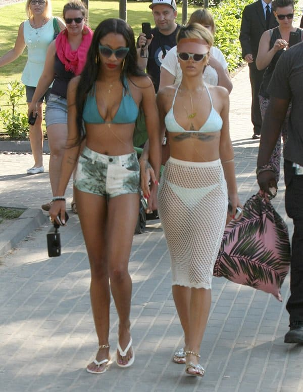 Rihanna spends some time at the beach in Sopot, Poland