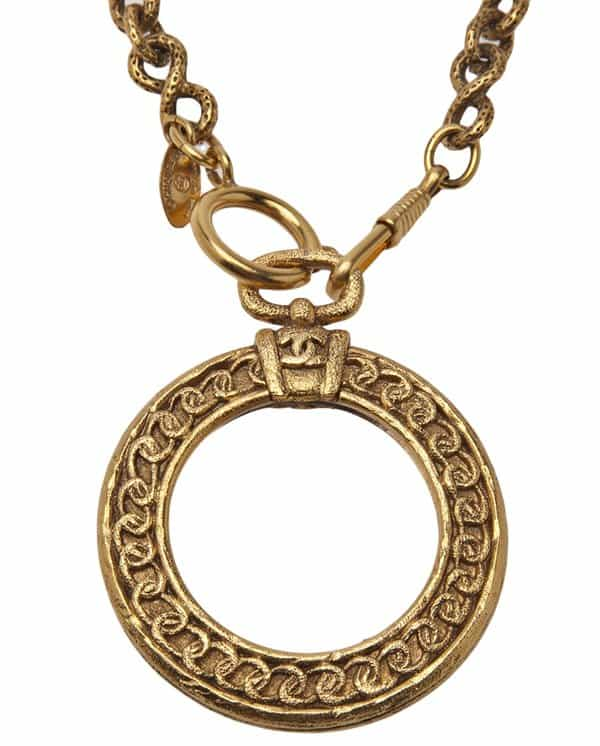 Chanel Vintage 'Magnifying Loupe' Necklace2