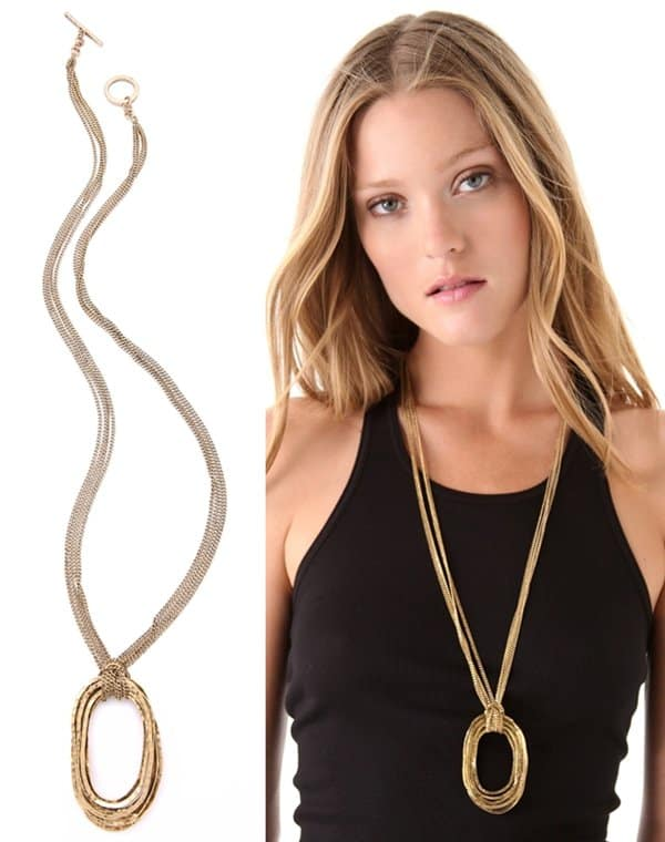 Citrine by the Stones Large Wire Pendant Necklace3