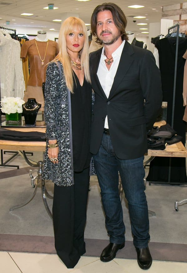 Rachel Zoe with husband Rodger Berman at the Fall/Winter 2013 Presentation of her line for Bloomingdale's in Los Angeles on August 8, 2013