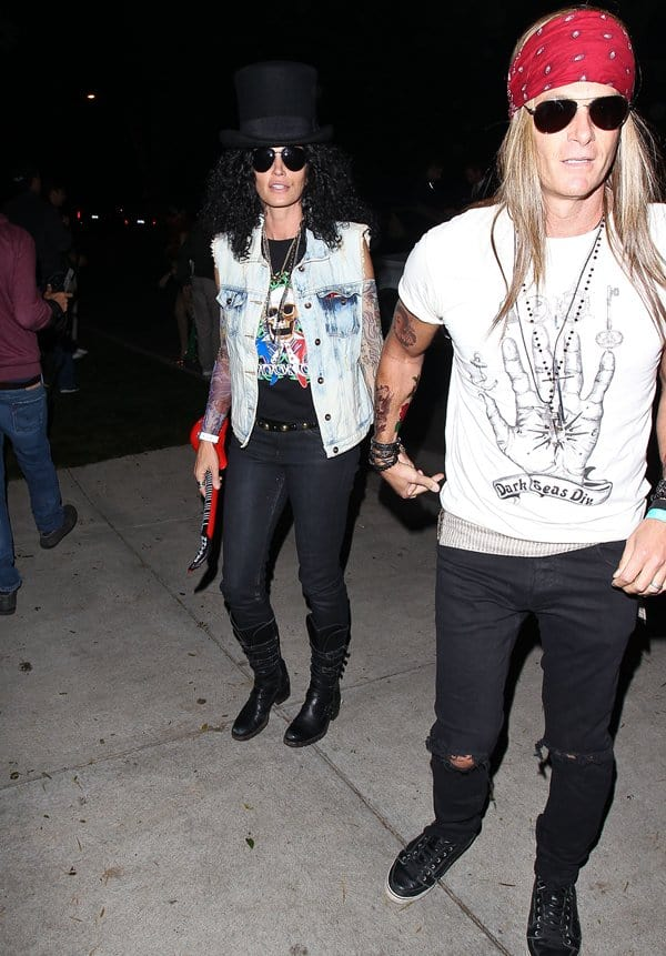 Cindy Crawford with husband Rande Gerber at Mike Meldman's Halloween party in Beverly Hills on October 26, 2013