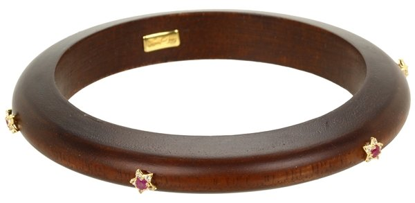 Elizabeth and James Victorian Star Small Wooden Bangle