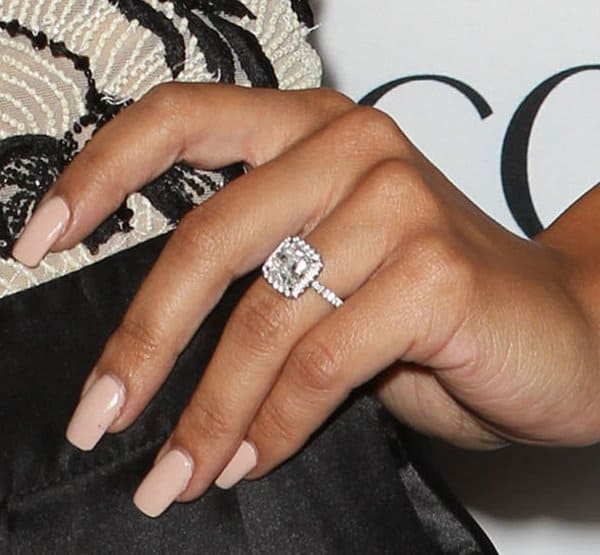 Naya subtly showing off her ring at Latina magazine's Hot List party held at The Redbury hotel in Hollywood, Los Angeles, on October 4, 2013