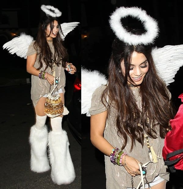 Vanessa Hudgens at a Halloween party in Beverly Hills on October 26, 2013