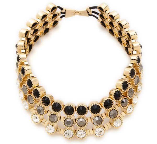 Adia Kibur Circle Stone Collar Necklace