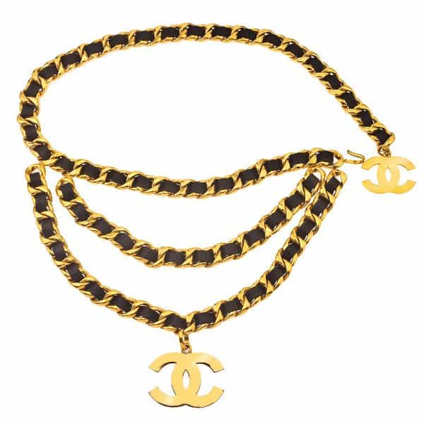 Vintage Chanel Massive 3 Row Chain Belt