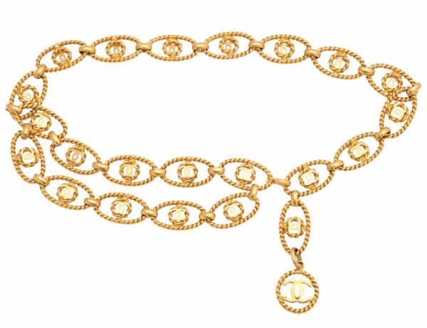 Vintage Chanel - Gold Toned Chain Belt with CC Motifs