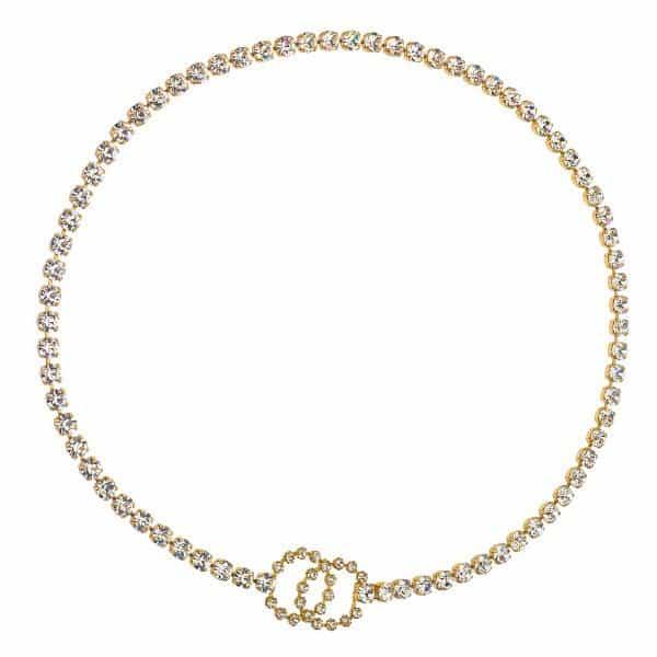 Vintage Chanel Rhinestone Belt / Body Chain