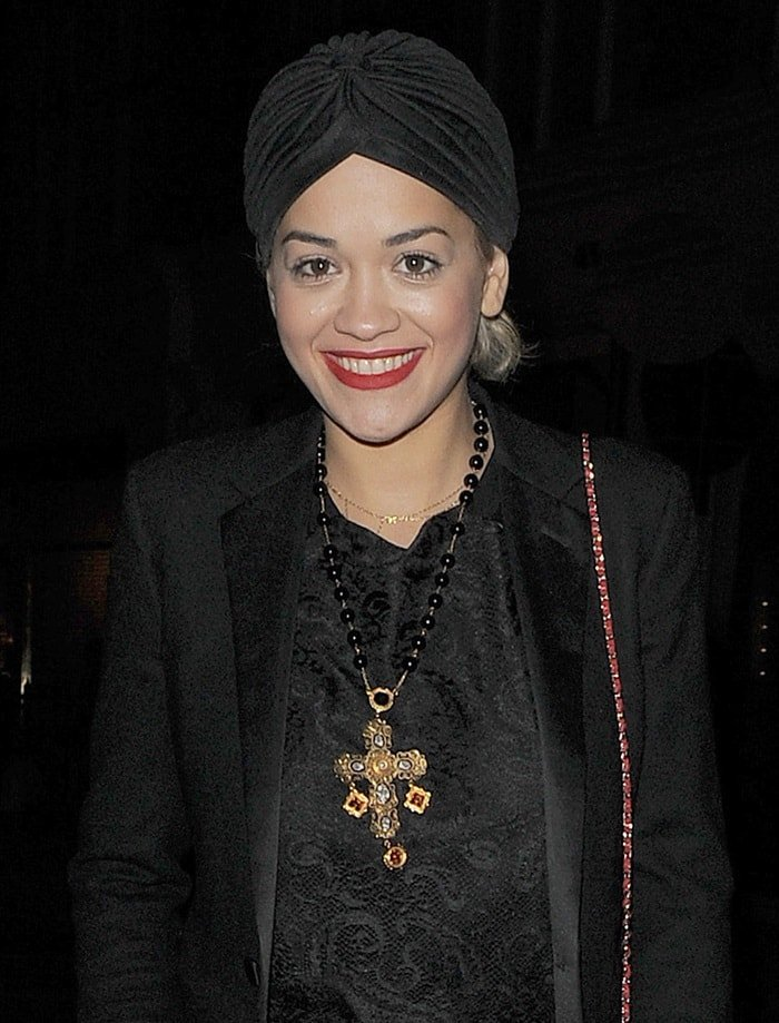 Rita Ora out for her late birthday dinner in London on November 27, 2013