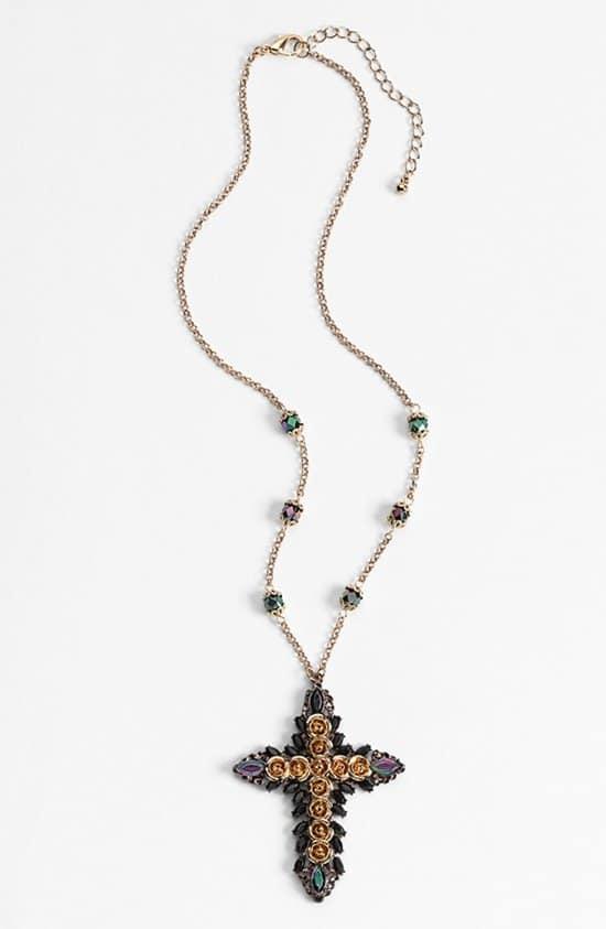 Robert Rose 'Floral Cross' Pendant Necklace