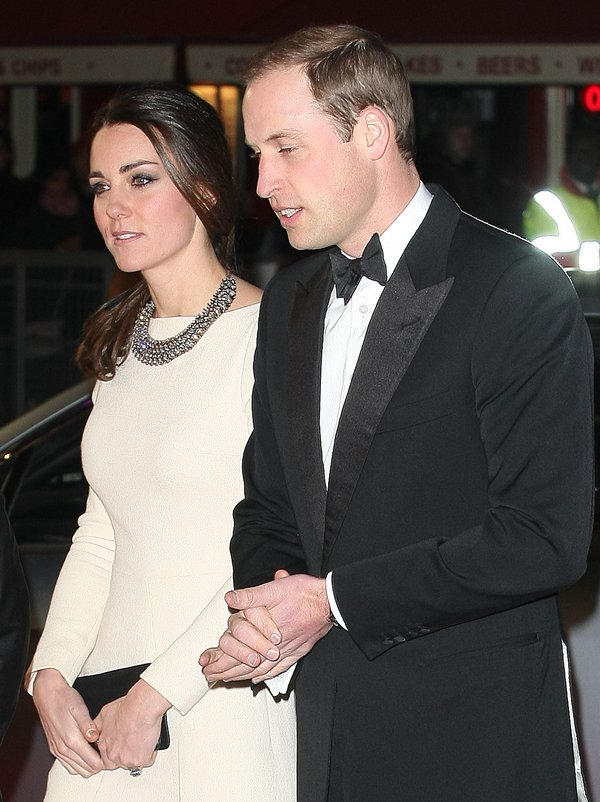 Kate Middleton with Prince William at the Mandela: Long Walk to Freedom premiere held at the Odeon Leicester Square in London, England, on December 5, 2013