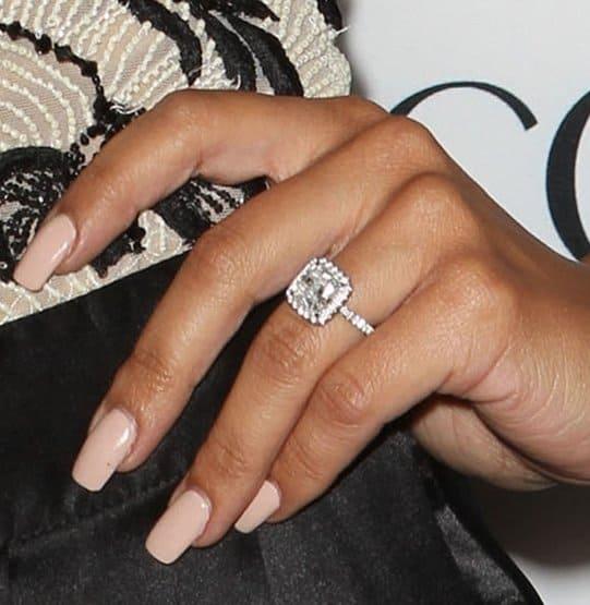 Naya Rivera's princess-cut diamond engagement ring