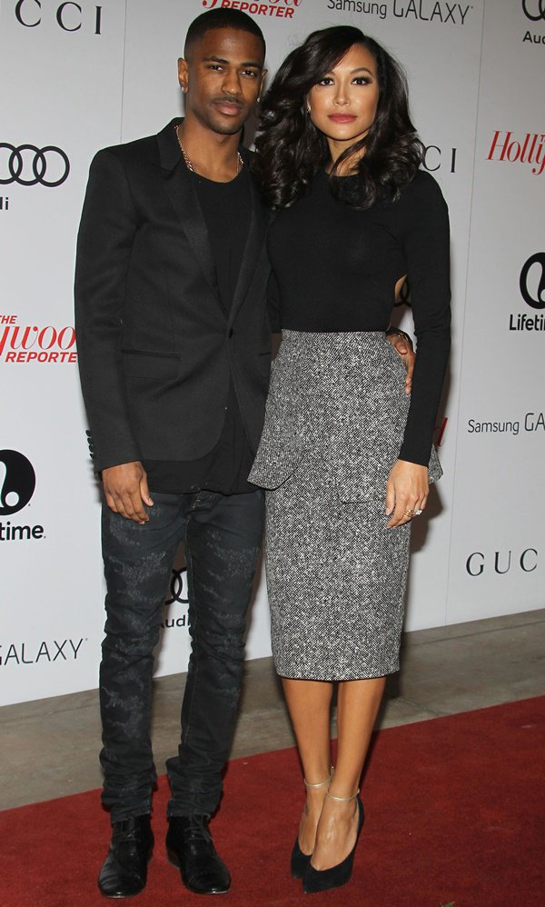 Sean Michael Leonard Anderson, known professionally as Big Sean, and Naya Rivera at The Hollywood Reporter's Women in Entertainment Breakfast at The Beverly Hills Hotel in Beverly Hills on December 11, 2013