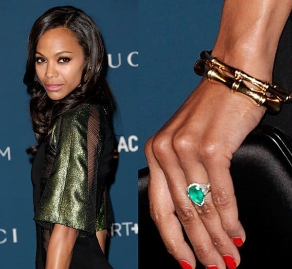 Zoe Saldana's engagement bling is not just one of the most beautiful sparklers we've seen